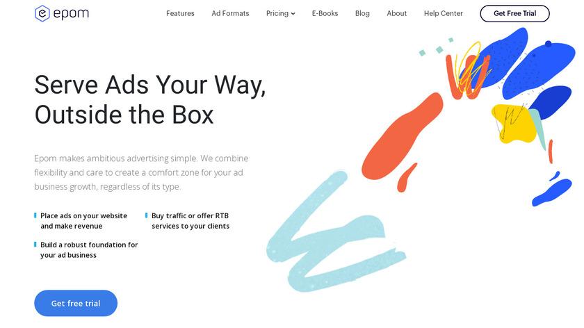 Epom Ad Server Landing Page
