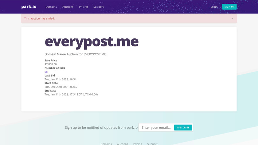 Everypost Landing Page