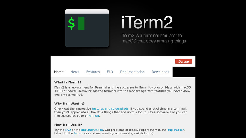 iTerm2 Landing Page