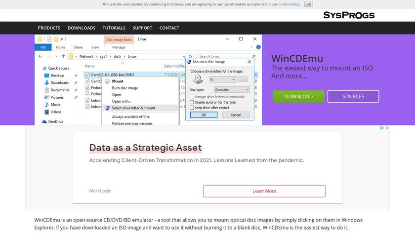 WinCDEmu Landing Page