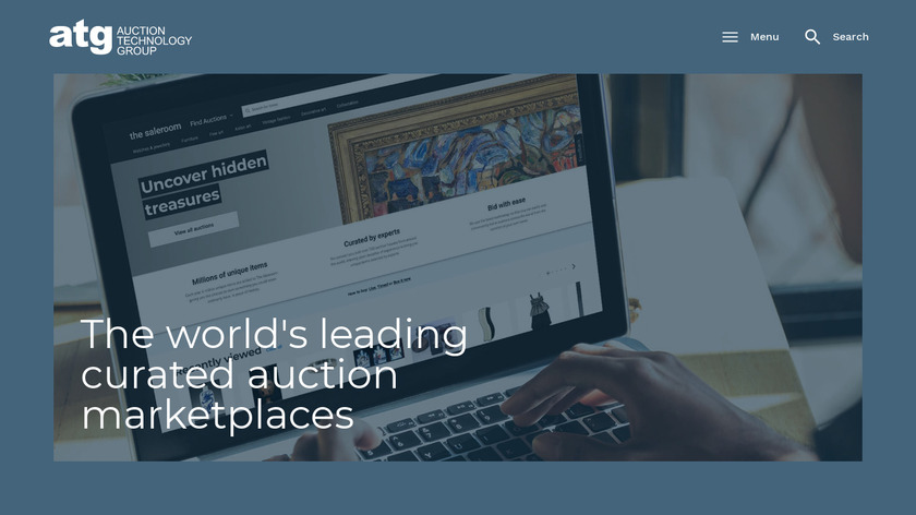 Global Auction Platform Landing Page