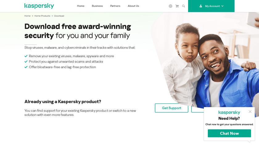 Kaspersky Software Updater Landing Page