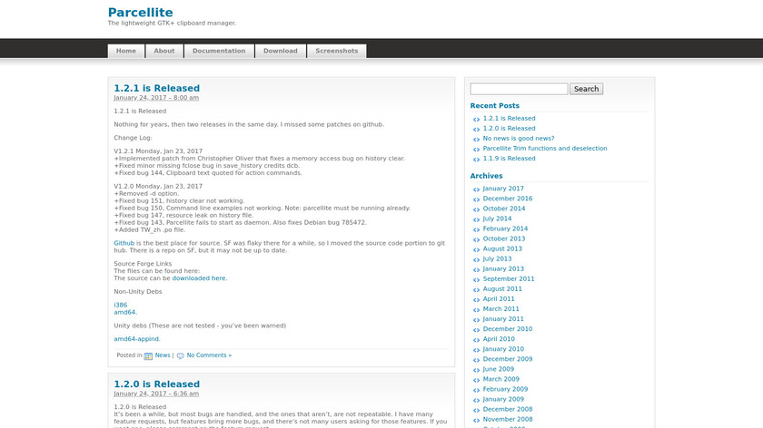 Parcellite Landing Page