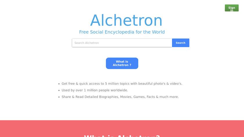 Alchetron Landing Page