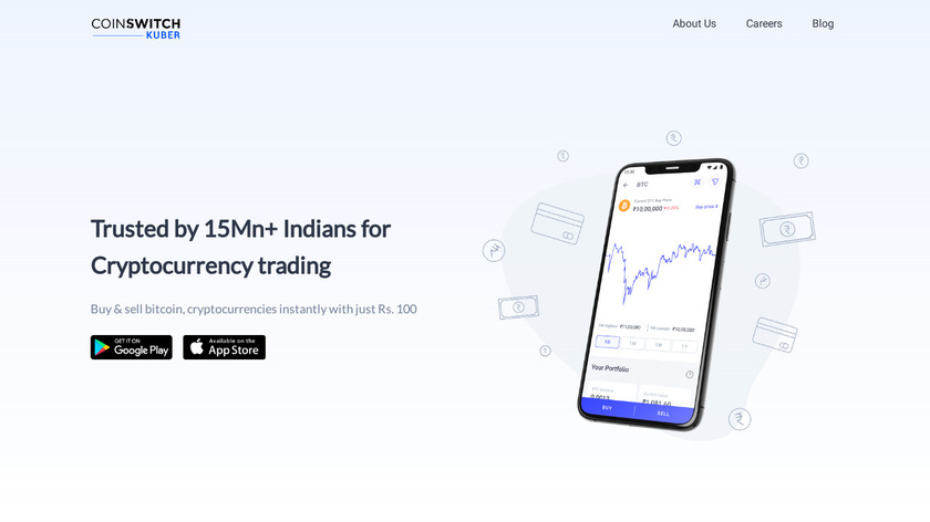CoinSwitch Landing Page
