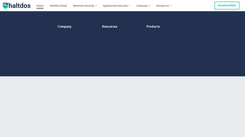 HaltDos Landing Page