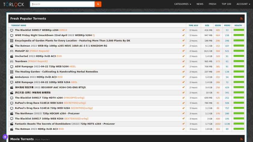 Torlock Landing Page