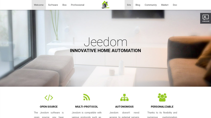 Jeedom Landing Page