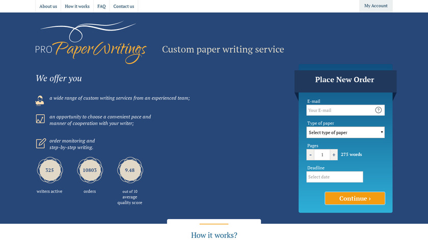 ProPaperWritings Landing Page