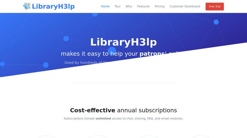 LibraryH3lp Landing Page