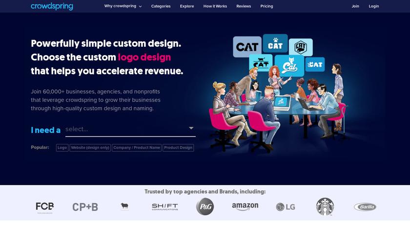 crowdSPRING Landing Page