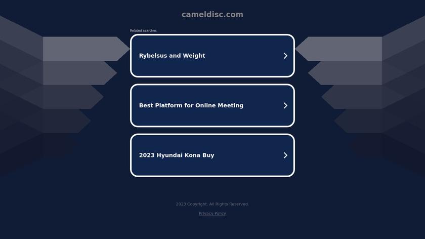 Camel Disc Catalog Landing Page