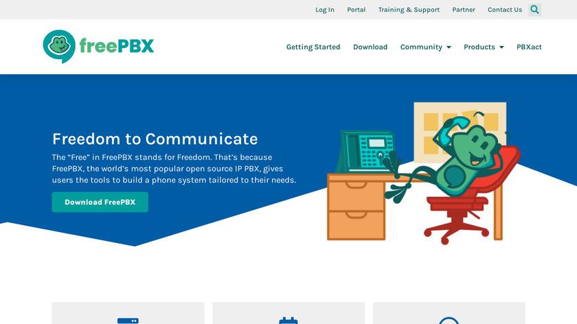 freepbx Landing Page
