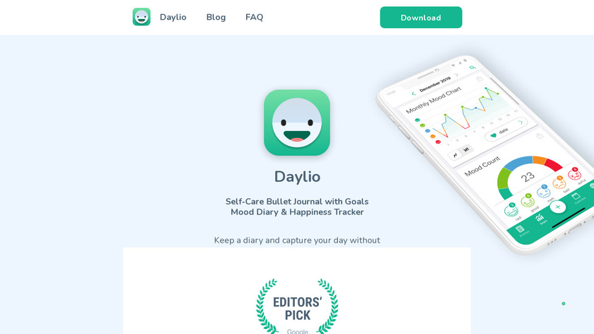 Daylio Landing Page