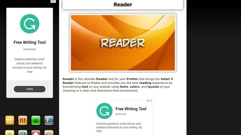 Reader Landing Page