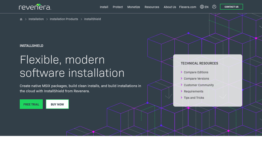 InstallShield Landing Page