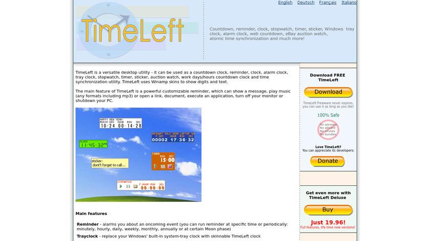 TimeLeft Landing Page