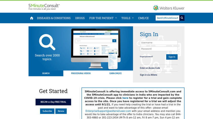 5 minute consult Landing Page