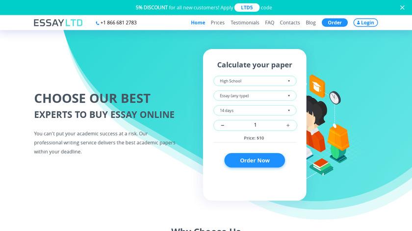 Essay Ltd Landing Page