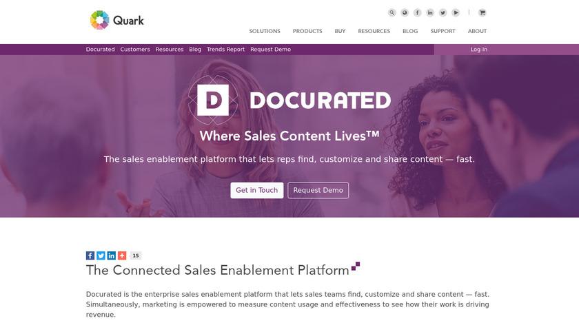 quark.com Docurated Landing Page