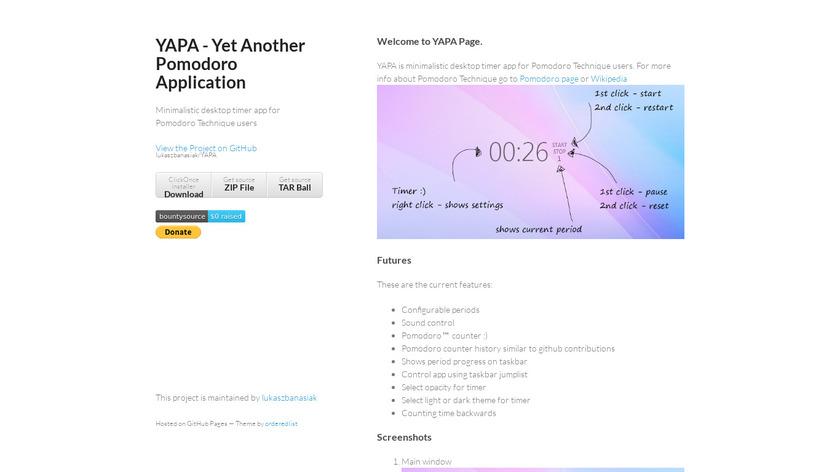 YAPA Landing Page
