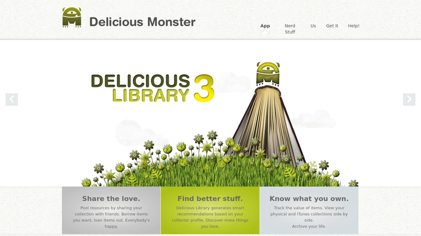 Delicious Library Landing Page