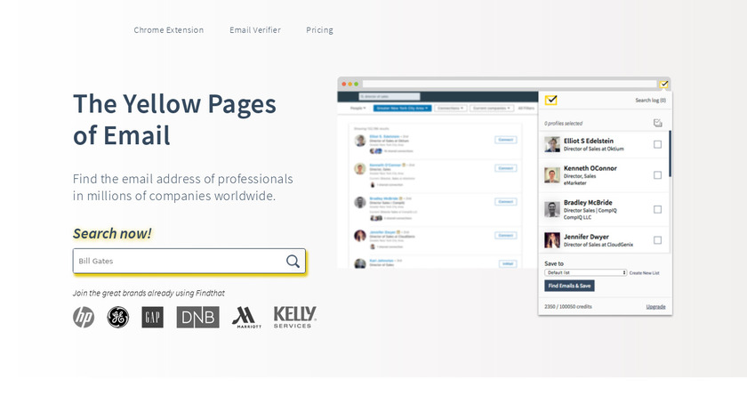 Find That Email Landing Page