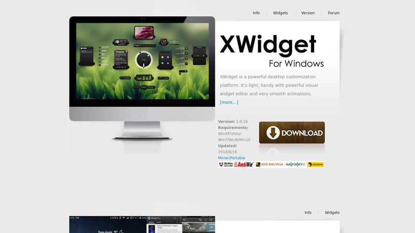XWidget Landing Page