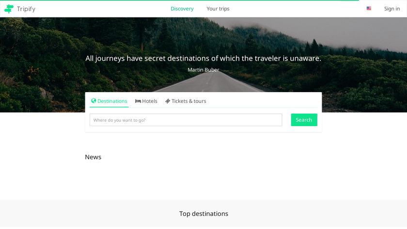 Tripify Landing Page