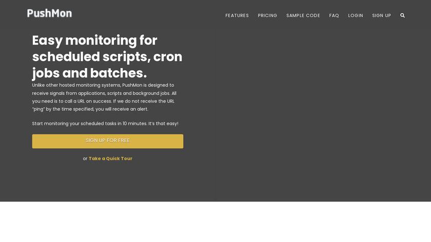 PushMon Landing Page