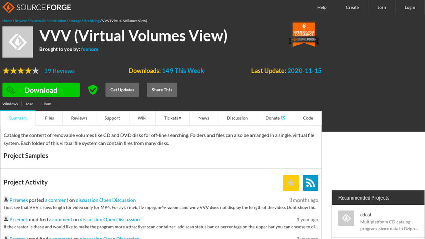 Virtual Volumes View Landing Page