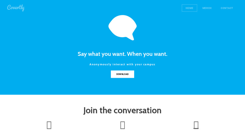 Covert.ly Landing Page