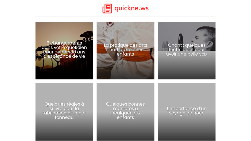 Quickne.ws Landing Page