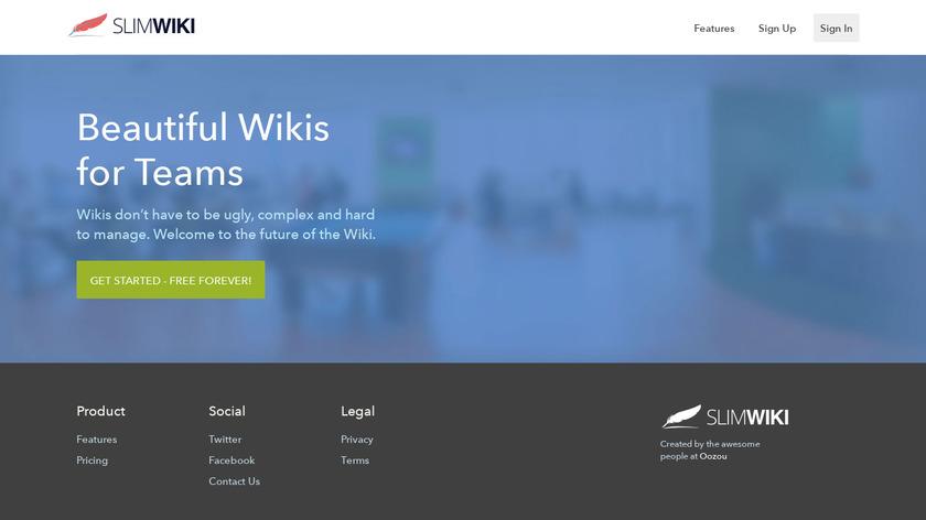SlimWiki Landing Page
