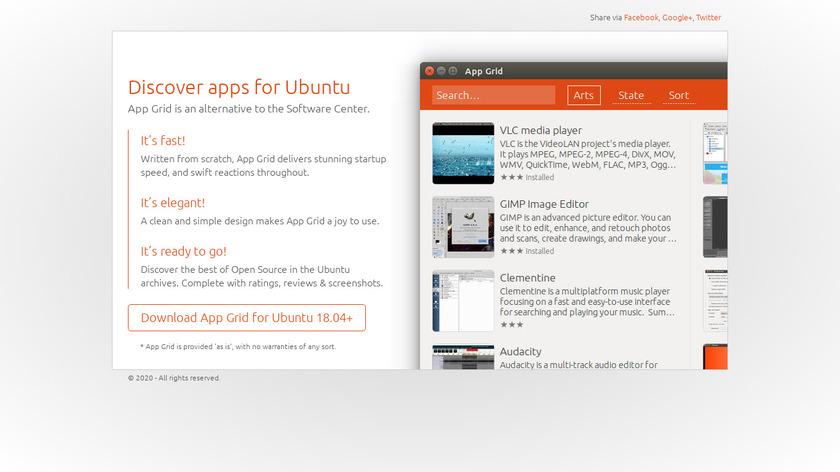 App Grid Landing Page