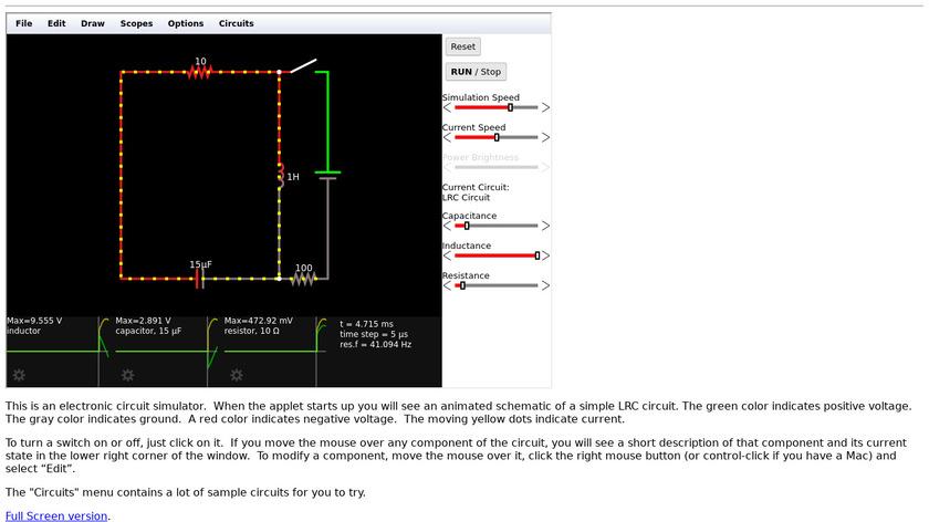 Circuit Simulator Landing Page