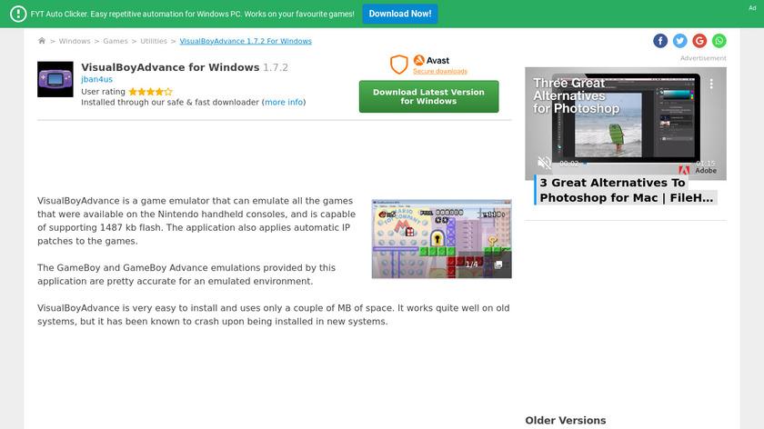 VisualBoyAdvance Landing Page