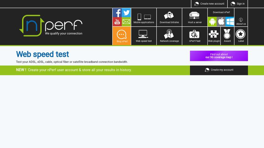 nPerf Landing Page