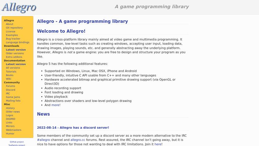 Allegro Landing Page