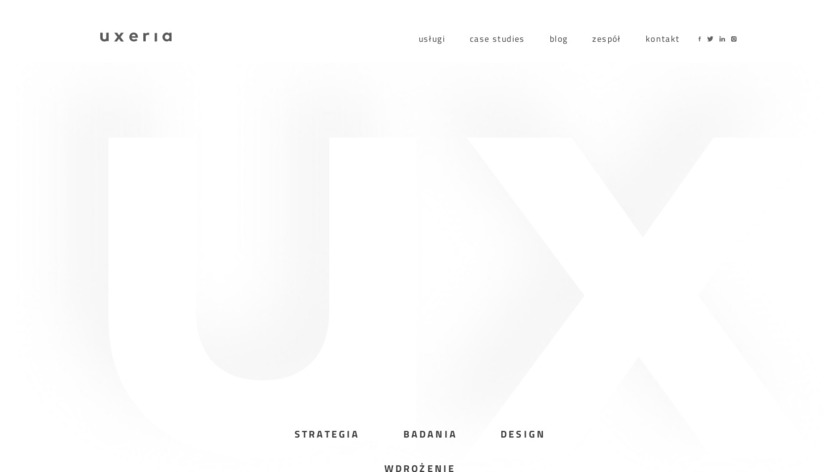 Uxeria.com Landing Page