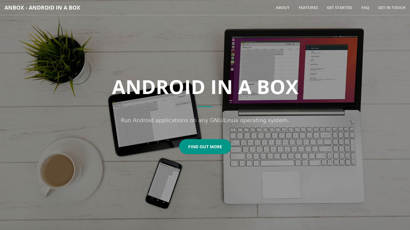 Anbox Landing Page