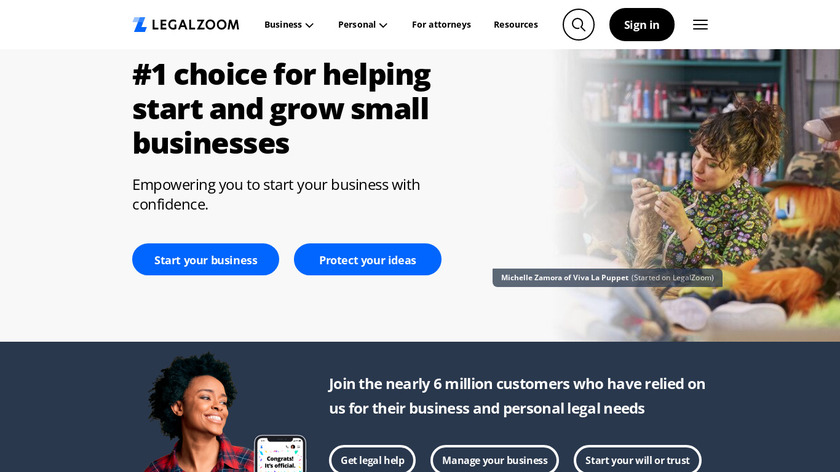 LegalZoom Landing Page