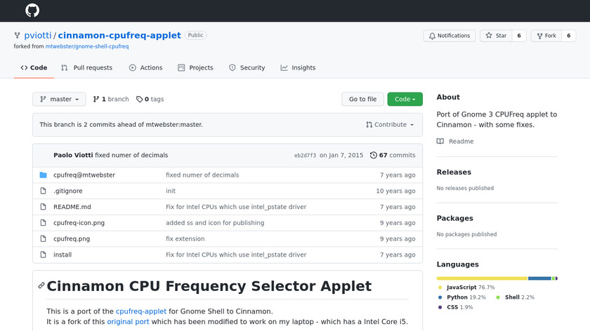 CPU Frequency Selector Landing Page