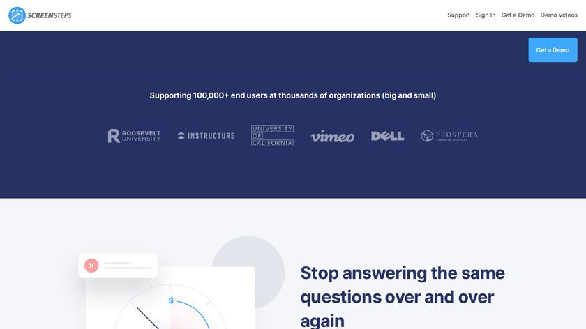 ScreenSteps Landing Page