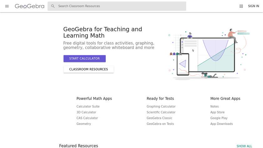 GeoGebra Landing Page