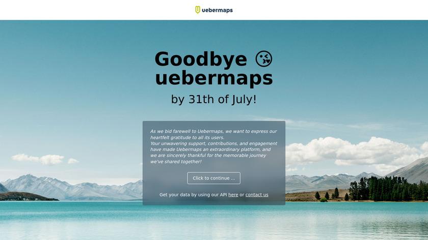 uebermaps Landing Page