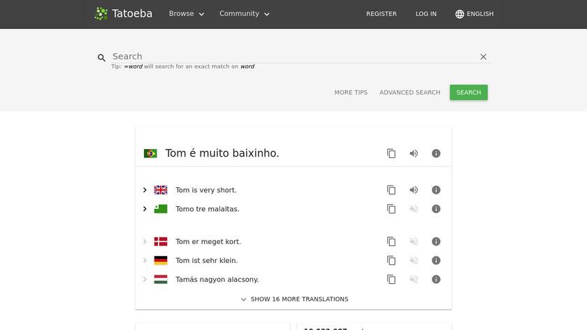 Tatoeba Landing Page