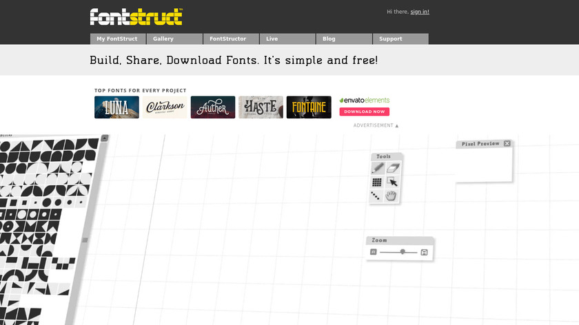FontStruct Landing Page