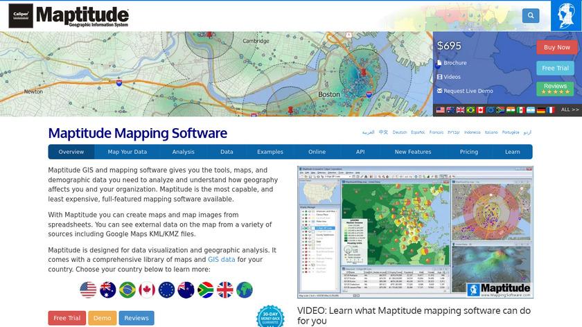Maptitude Landing Page