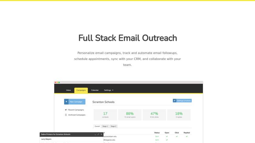Vocus.io Landing Page